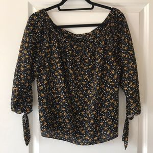 Madewell Off the Shoulder Silk Blouse